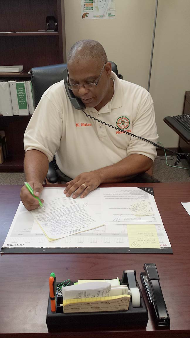 FAMU Parking Service Coordination Michael Watson Says Lot Will Be Closed  For Several Months. (Photo By Naikeema Fields)